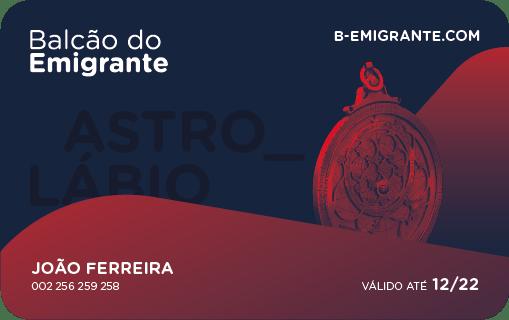 Cartão de Fidelização Astrolábio - Balcão do Emigrante